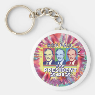 Groovy Ron Paul for President Keychain