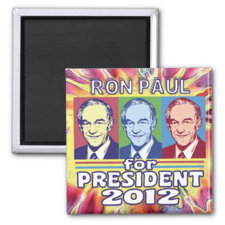 Groovy Ron Paul for President Refrigerator Magnet