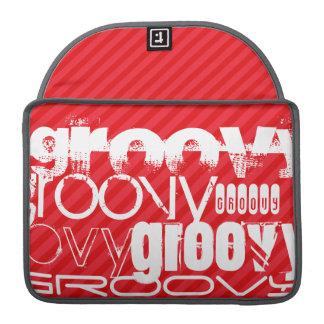 Groovy; Scarlet Red Stripes MacBook Pro Sleeve