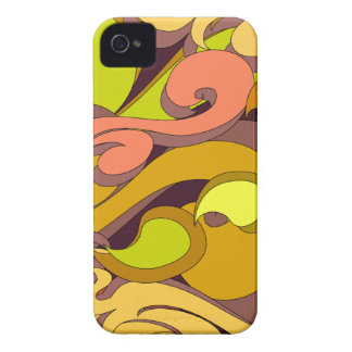 Groovy Seventies Swirls iPhone 4 Case-Mate Case