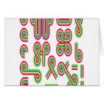Groovy shapes design greeting cards