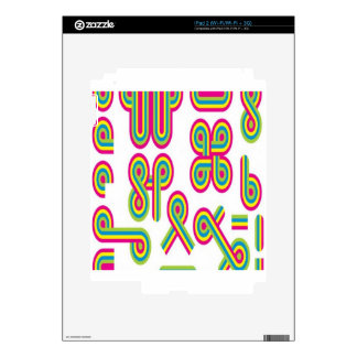 Groovy shapes design decals for iPad 2