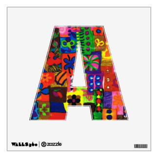 Groovy Sixties Collage Letter A Wall Decal