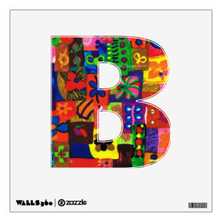Groovy Sixties Collage Letter B Wall Decal