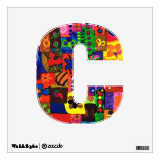 Groovy Sixties Collage Letter C Wall Decal