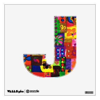 Groovy Sixties Collage Letter J Wall Decal