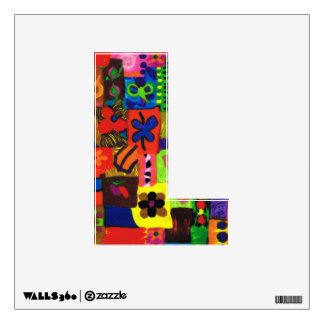 Groovy Sixties Collage Letter L Wall Decal