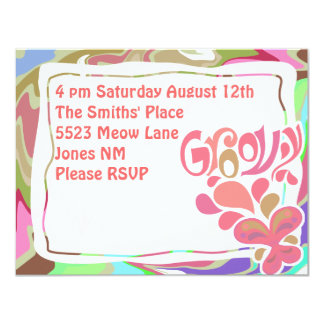 Groovy Sixties Party Card