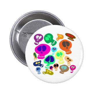 Groovy Skulls Button