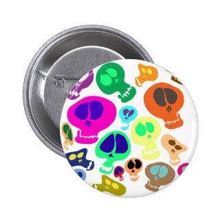 Groovy Skulls Pinback Button