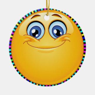 Groovy Smile Happy Face - SRF Ceramic Ornament