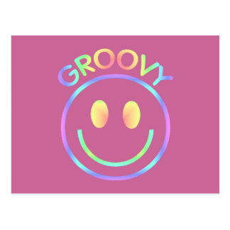 Groovy Smiley Face Postcard