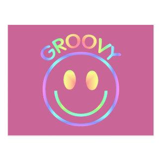 Groovy Smiley Face Postcard