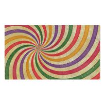 Groovy Spiral Sunbeam Ray Swirl Design Grungy Business Cards