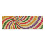Groovy Spiral Sunbeam Ray Swirl Design Grungy Double-Sided Mini Business Cards (Pack Of 20)