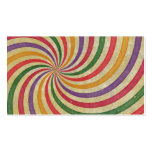 Groovy Spiral Sunbeam Ray Swirl Design Grungy Double-Sided Standard Business Cards (Pack Of 100)