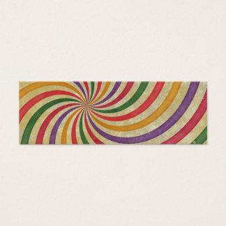 Groovy Spiral Sunbeam Ray Swirl Design Grungy Mini Business Card