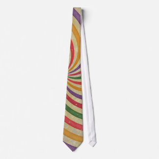 Groovy Spiral Sunbeam Ray Swirl Design Grungy Tie