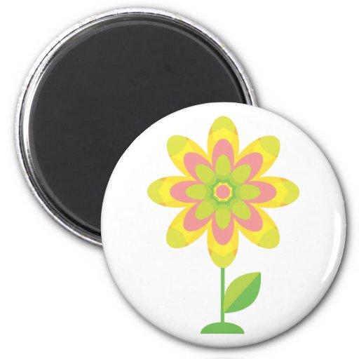 Groovy Spring Flower 2 Inch Round Magnet