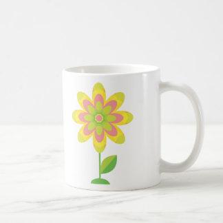 Groovy Spring Flower Classic White Coffee Mug