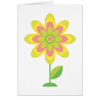 Groovy Spring Flower Greeting Card