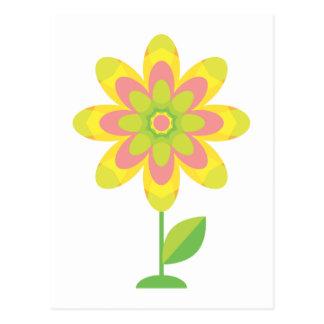 Groovy Spring Flower Postcard