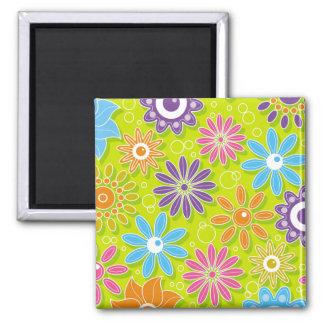 Groovy Spring Flower Power Fridge Magnets