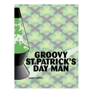 Groovy St Pats Day Postcard