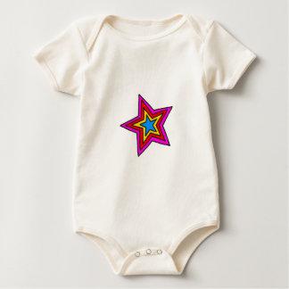 Groovy Star Baby Bodysuit