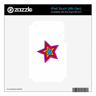 Groovy Star iPod Touch 4G Decal