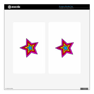 Groovy Star Skin For Kindle Fire