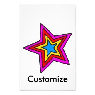 Groovy Star Stationery