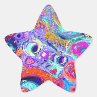 Groovy Star Sticker