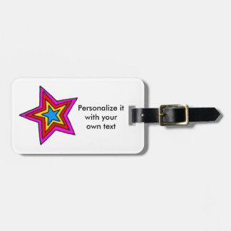 Groovy Star Tag For Luggage