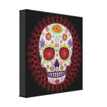 Groovy Sugar Skull Art Canvas Prints