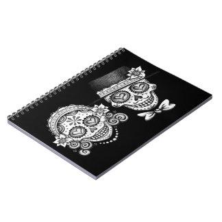 Groovy Sugar Skull Couple Notebook / Journal