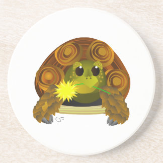 Groovy Summer Tortoise With Flower coaster