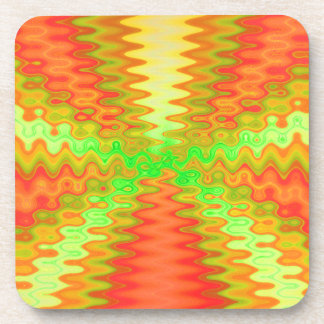 Groovy Sunny Abstract Coaster