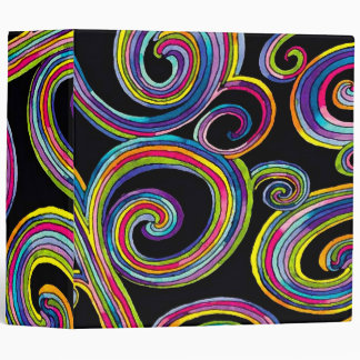 Groovy Swirls ~ Binder / Photo Album Retro