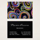Groovy Swirls ~ UNISEX / PEARL Paper Business Card