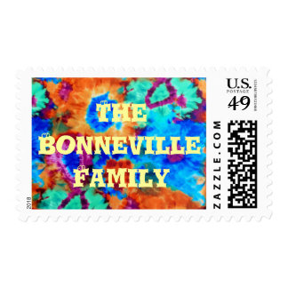 Groovy Tie Dye Flowers USPS Personalized Stamp