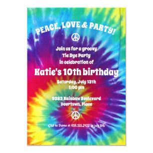Tie Dye Party Invitations Zazzle