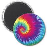 Groovy Tie Dye Hippie Style Fridge Magnet