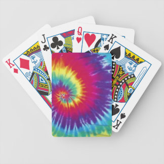 Groovy Tie Dye Hippie Style Playing Cards