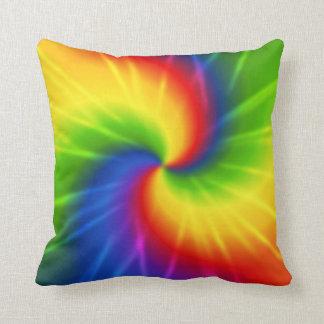 Groovy Tie Dye Throw Pillow