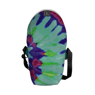 Groovy Tie-Dyed Abstract Messenger Bag