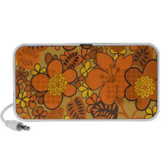 groovy tropical flowers iPhone speaker