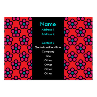 Groovy Tuesday Red Business Card