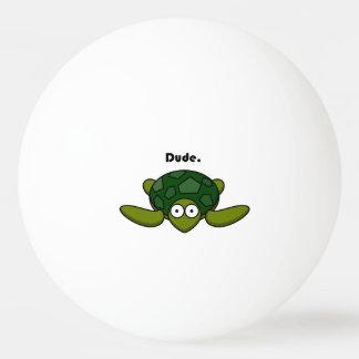 Groovy Turtle Dude Cartoon Ping Pong Ball