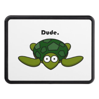 Groovy Turtle Dude Cartoon Tow Hitch Cover